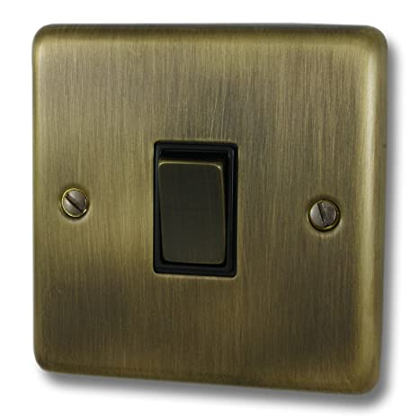 G/&H CAB301 Standard Plate Antique Bronze 1 Gang 1 or 2 Way Rocker Light Switch