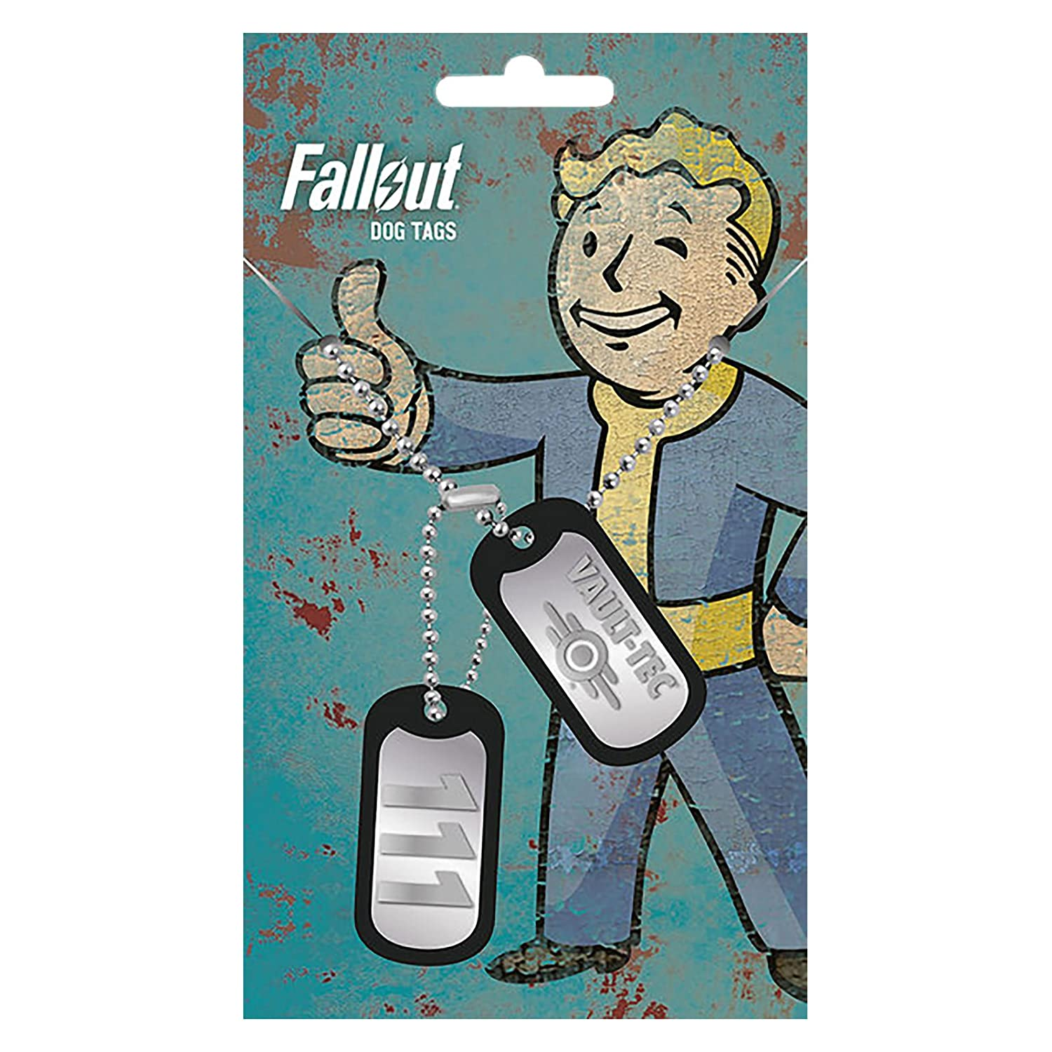 Fallout Dog Día Vault Tec, color plateado de metal: Amazon ...