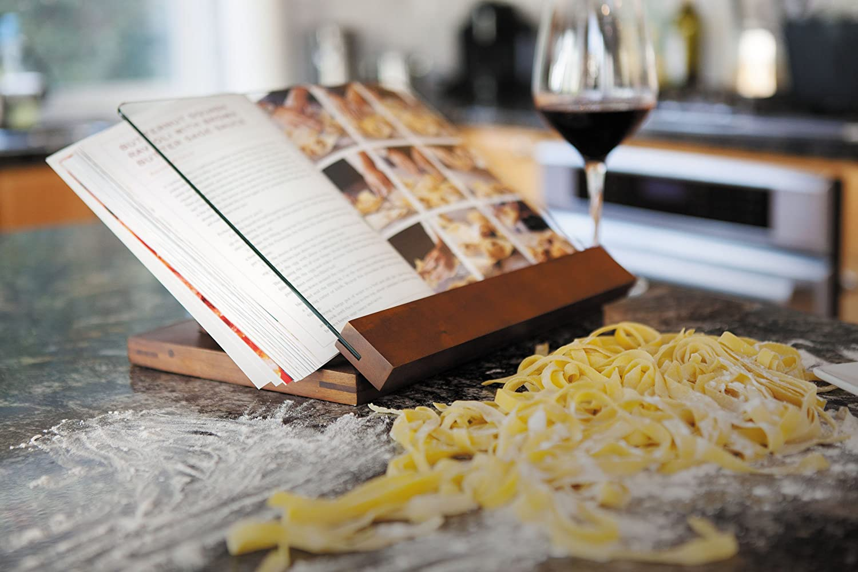 a Picnic Time Brand Fabio Viviani Prodigio Acacia Wood Cookbook Stand TOSCANA