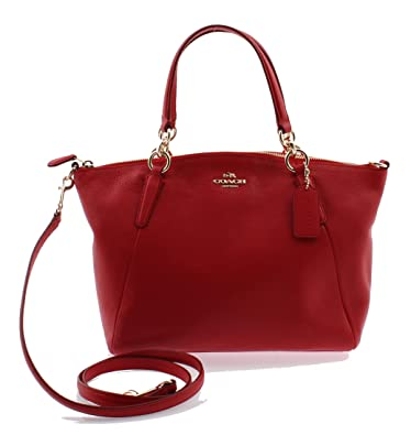 8cb2322f39 Image Unavailable. Image not available for. Color: Coach Pebble Leather  Small Kelsey Satchel Crossbody Bag in True Red ...
