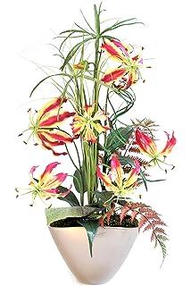 Deko künstliche Blumen Lavendel Topf Seidenblumen Kunstblumen Floristik wie echt