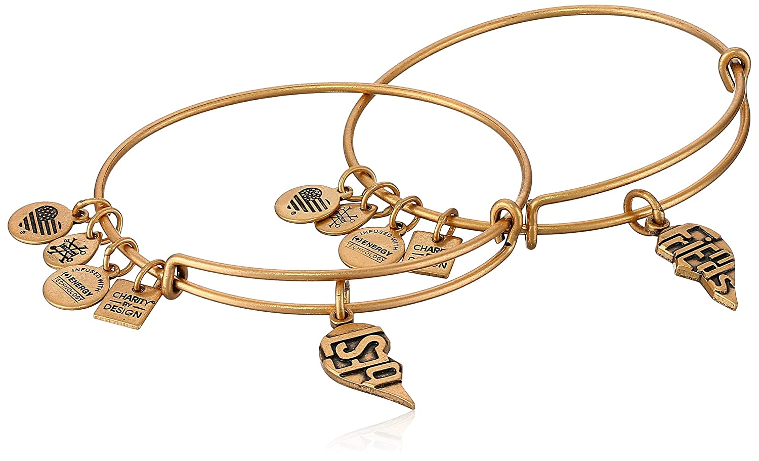 Alex and Ani Charity by Design, Best Friends Set of 2, Expandable Rafaelian Gold CBD17BFRG