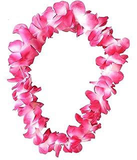 Hawaiian Deluxe Lei Floral Garland Fancy Dress 6 Pastel Colours New