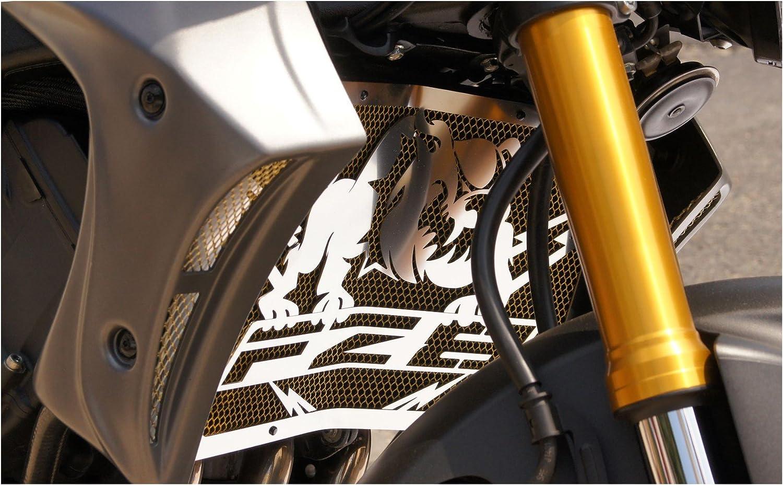 alambrera dorada protecci/ón de radiador para Yamaha 800 FZ8 and FZ8 Fazer 1016 design Bulldog