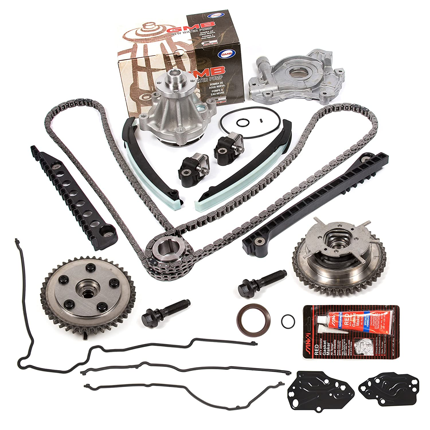 Evergreen Tktcs6068gwop 04 08 Ford F150 F250 Lincoln 83 2 3 Timing Marks App Navigator Triton 54 Sohc Valve Chain Kit Cam Phaser Water Pump Oil