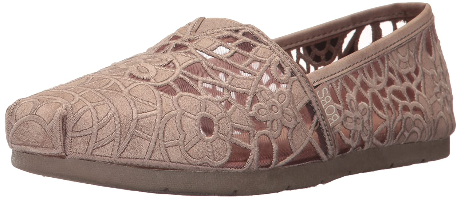 Skechers BOBS from Women's Luxe Fashion Slip-On Flat B01NAFZVQO 7 B(M) US|Taupe