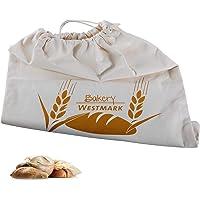 Westmark Pan de/Baguette Bolsa/Bolsa con Cordón, 100% algodón, para el Panera, Blanco Natural