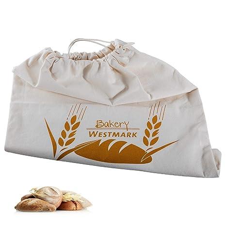 Westmark Pan Bolsa/Bolsa con Cordón, 100% algodón, para el Panera, 38 x 45 cm, Blanco Natural, 32102270