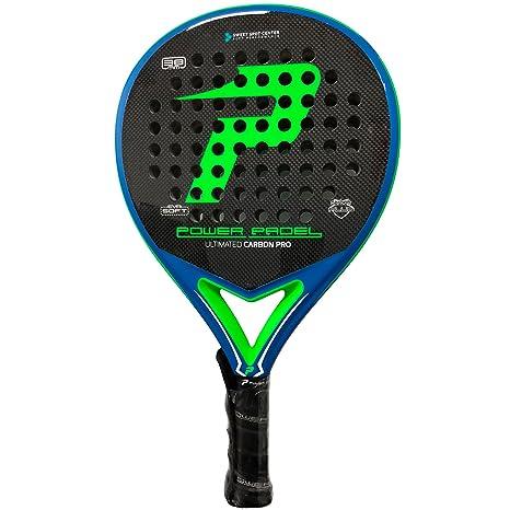 Pala Power Padel Ultimated Carbon Pro Green / Blue Mate: Amazon.es: Deportes y aire libre