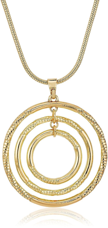 ed0e11c5943a6 Napier Gold-Tone Circle Pendant Necklace, 16