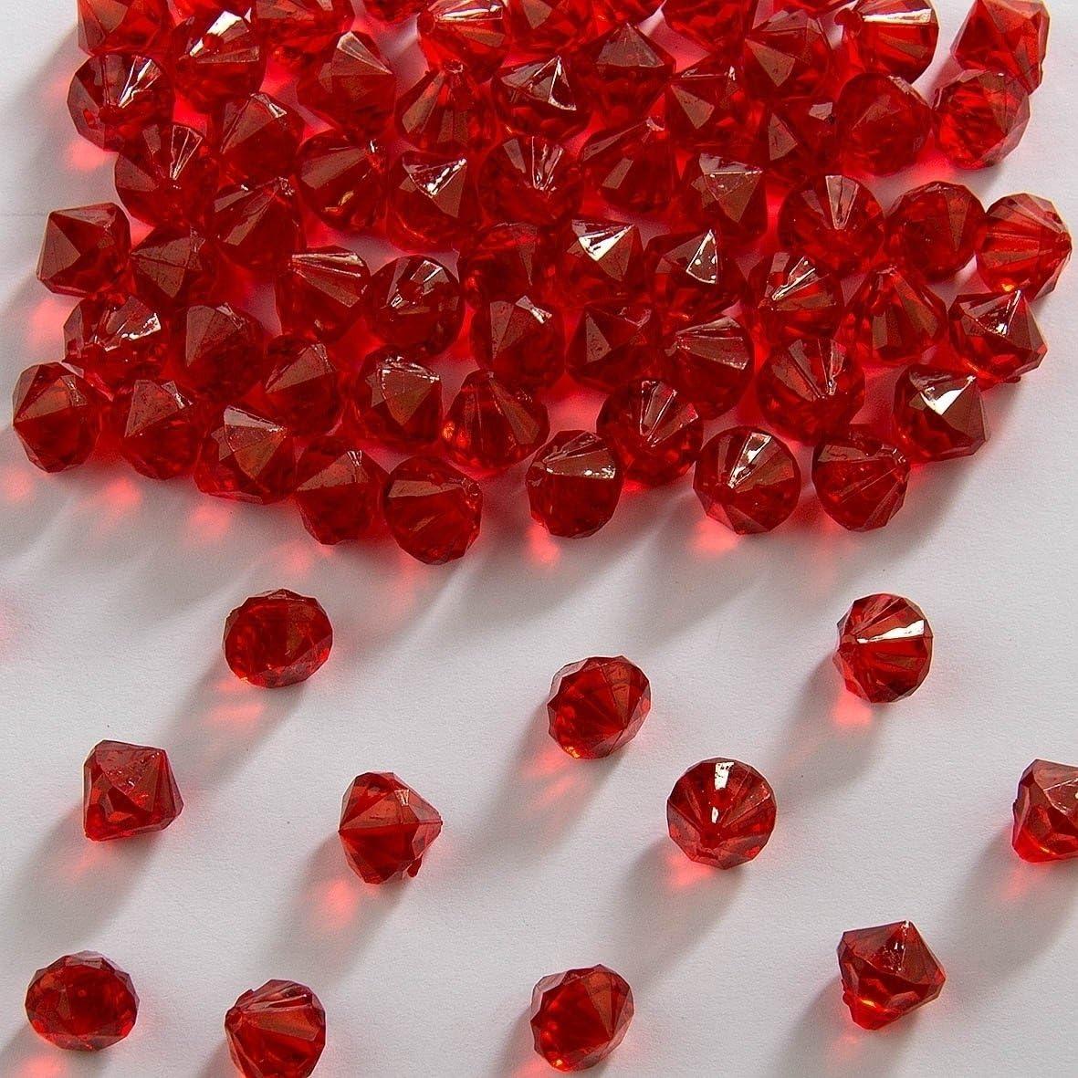 Folat Mesa Decorativa con Diamantes Rojos de 9 mm