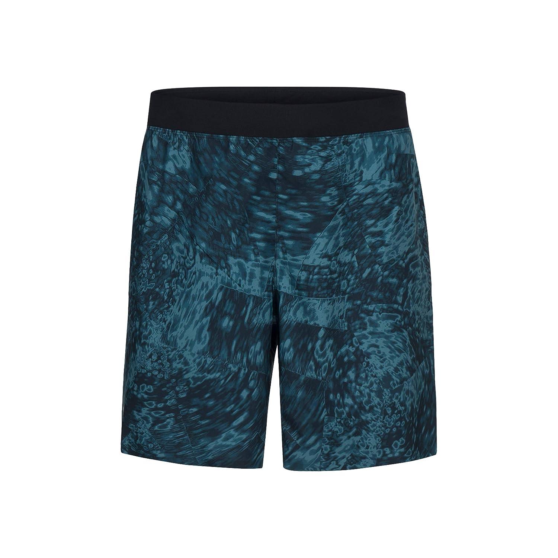 Peak Performance Herren Freemont Print Shorts Laufbekleidung Shorts Petrol - Schwarz 48