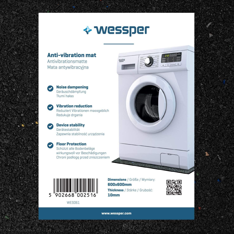 Wessper Estera de la Lavadora para Candy Aqua 600 T (60 x 60 x 1cm)