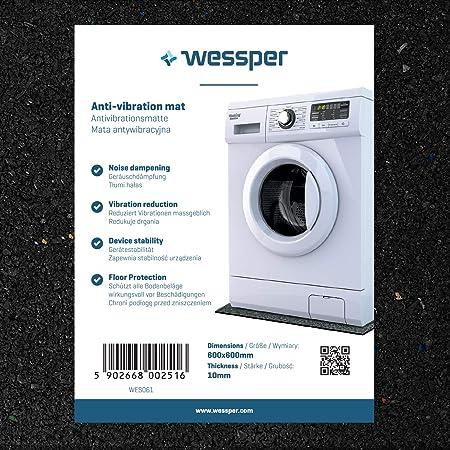Wessper Estera de la Lavadora para Whirlpool AWM720/3 (60 x 60 x ...