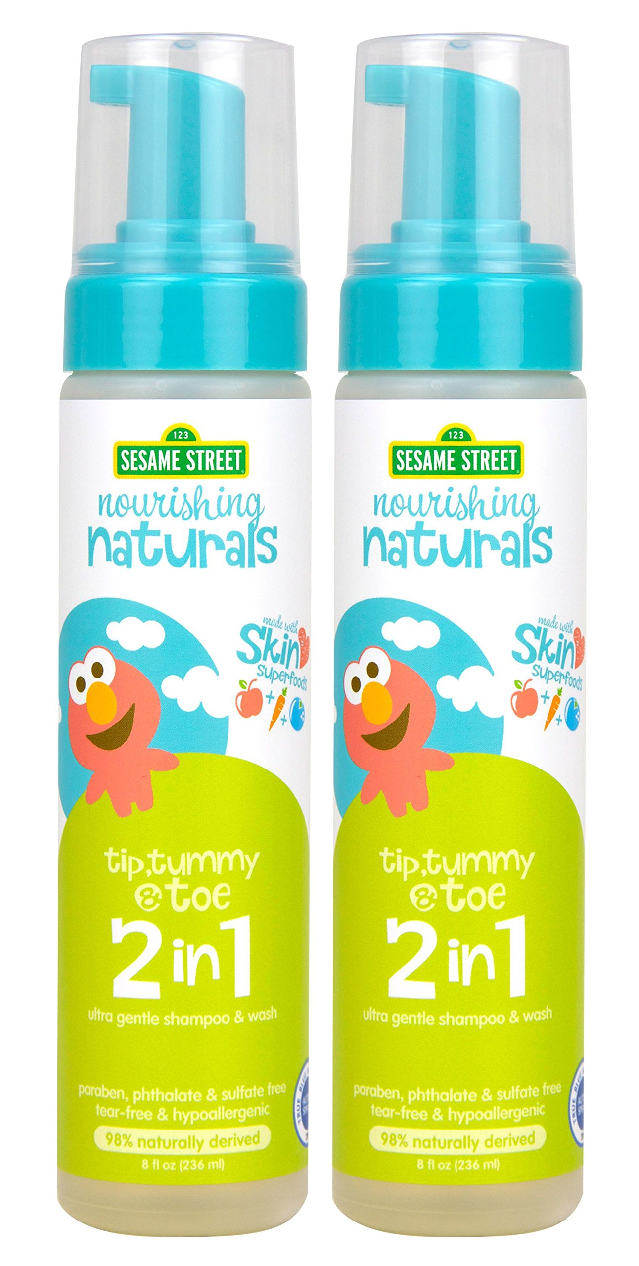 Sesame Street Nourishing Naturals 2-in-1 wash 8 oz 2 Pack