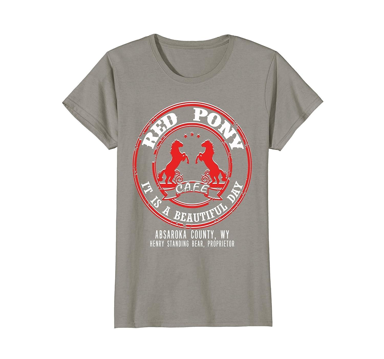 Red Pony It Is a Beautiful Day T-shirt-Awarplus