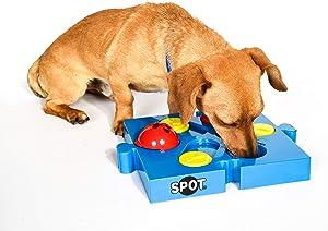 SPOT Seek-a-Treat Flip 'N Slide Treat Dispenser for Dogs | Dog Treat Dispenser | Dog Treat Dispenser Toy | Interactive Puzzle | Dog Treat Toys For Boredom | Dog Treat Toy Puzzle | Dog Toy Games, Model:5779