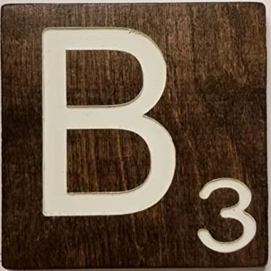 Large Scrabble Letter Tile (5 x 6 CREAM, B)