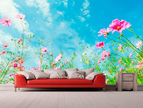 Fotomural Vinilo Para Pared Paisaje Cielo con Flores | Fotomural ...