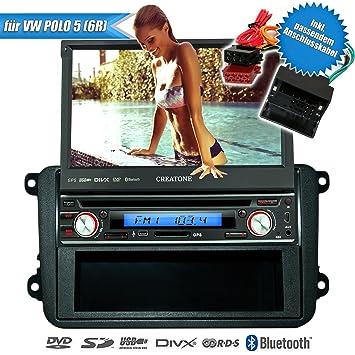 1DIN radio de coche SD V 7260DG para VW Polo 5 (6R) 2009 - 2014 ...