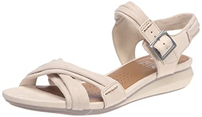 Ladies Clarks Active Air Sandals Roof Dance Bone Leather