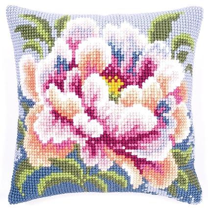 Vervaco Camellia - Kit para cojín de Punto de Cruz, diseño ...