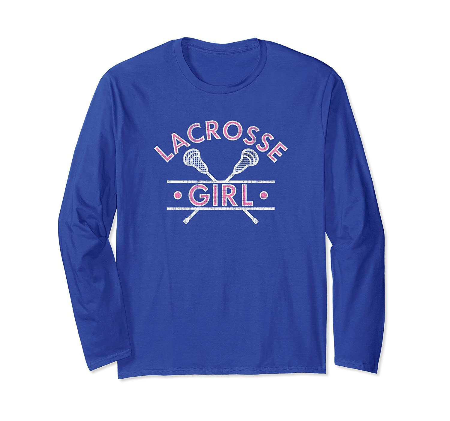 Lax Girl Lacrosse Player Long Sleeve T-Shirt-Teehay