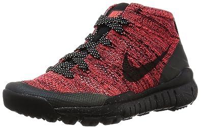 new product 74479 19dbe Nike Womens W Flyknit Trainer Chukka FSB Bright CrimsonBlack-Sequoia  Fabric (5.5