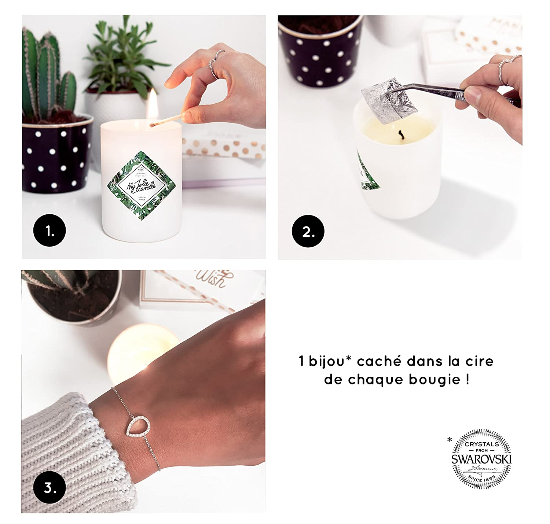Connu My Jolie candle - Bougie-Bijou Monoï de Tahiti - Bracelet: Amazon  JC64