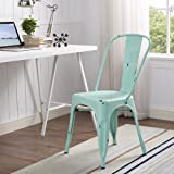 WE Furniture Metal Cafe Chair - Mint