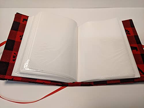 Black and Red Checkered Photo Album Handmade Personalized Photo Album Camping Photo Album Holds 100 4x6 photos