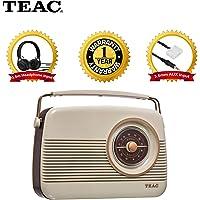TEAC Retro DAB+ Digital Radio with AM/FM   LCD Display, and Alarm Clock