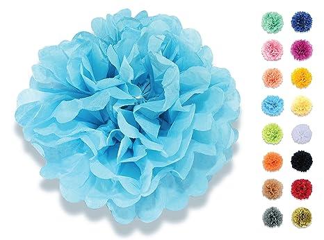 Addobbi Matrimonio Azzurro : Yokarta set di pon pon carta velina cm blu azzurro i bei