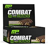 MusclePharm Combat Crunch Protein Bar, Chocolate Chip Cookie Dough, 12 Bars