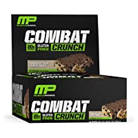 MusclePharm Combat Crunch Protein Bar, 20g Protein, Chocolate Chip Cookie Dough Bars, 12 Count