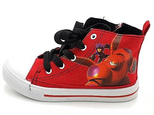 Sneakers casual rosse con stringhe per bambino Disney LUpqz9QQ