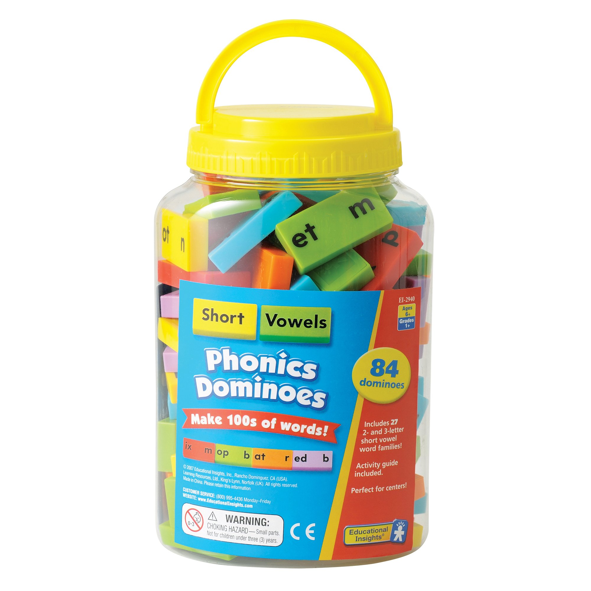 Educational Insights Phonics Dominoes: Short Vowels, Multi
