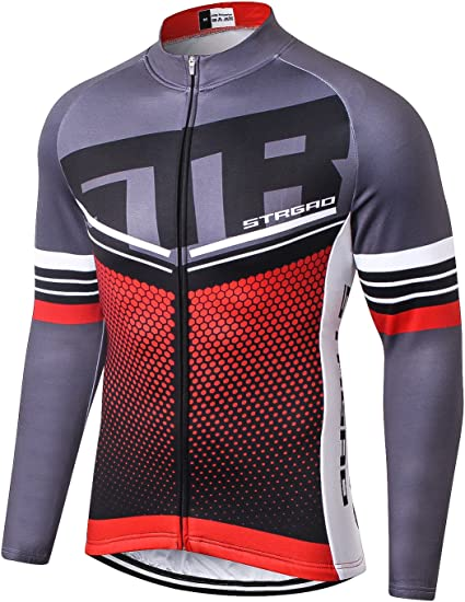 New Men/'s Long Sleeve Cycling Jersey Bike Bicycle Outdoor Shirts Size M-2XL 1012