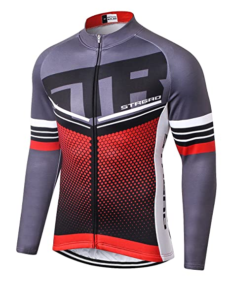 f121cc185 MR Strgao Men s Cycling Winter Thermal Jacket Windproof Long Sleeves Bike  Jersey Bicycle Coat Size 2XL