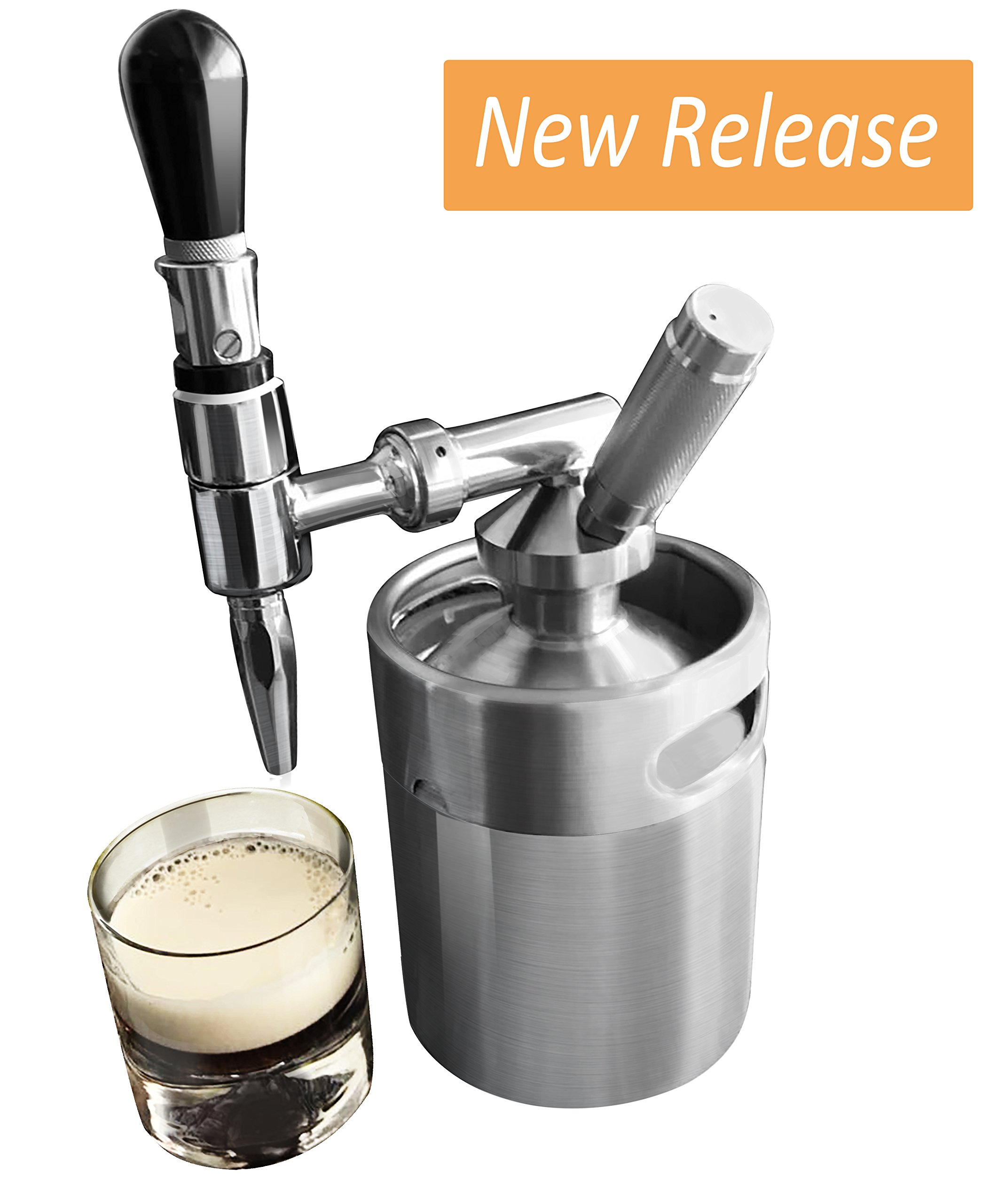 Lymor 64 Ounce Mini Stainless Steel Homebrew Coffee Keg System Kit, Nitro Cold Brew Coffee Maker, Best Gift for Coffee Lovers by Lymor