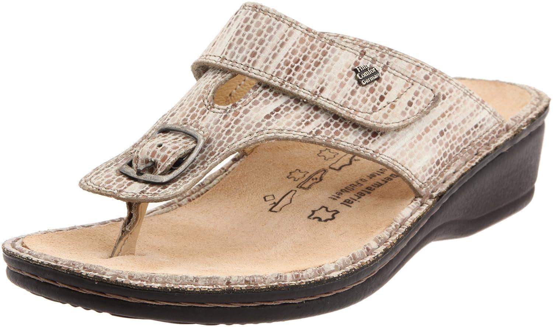 Finn Comfort Women's Phuket 2533 Sandal B0059TWX1Q 35 EU (4-4.5 M (B) US)|Beige Leather Classic Footbed