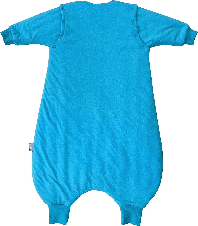 7-8 years//120cm Pony Slumbersac Standard Kid Sleeping Bag with Feet and Removable Long Sleeves 2.5 Tog