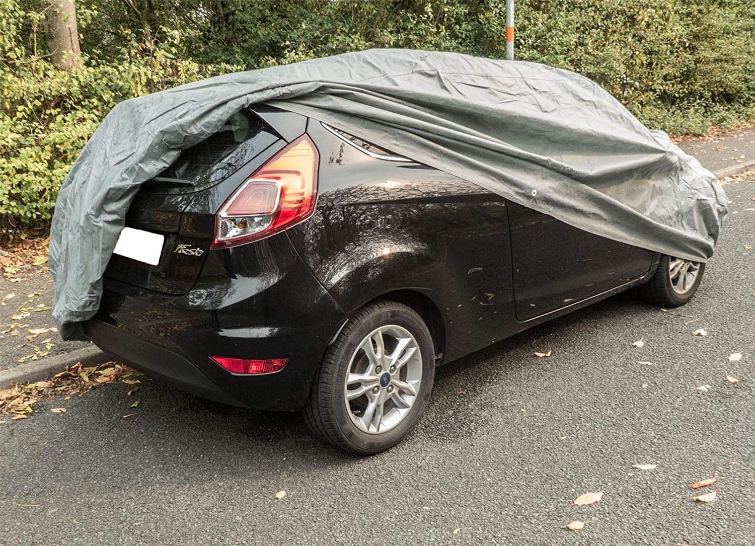 UKB4C Large Car Cover Water Resistant Breathable Rain UV Sun All Weather Protection for Indoor Outdoor Use