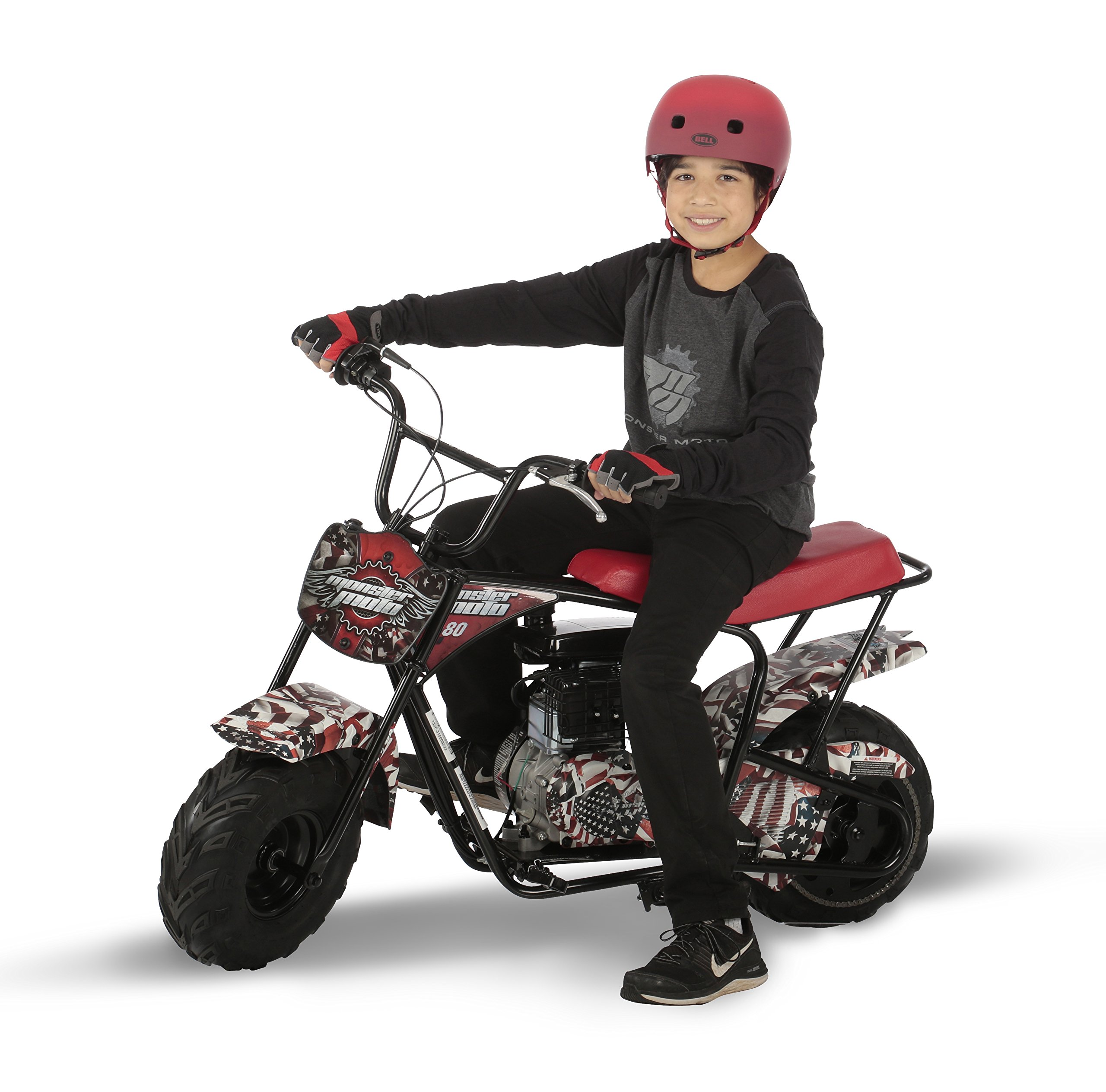 Monster Moto MM-B80-AF American Flag 80CC Youth Mini Bike - American Flag,1 Pack by Monster Moto (Image #3)