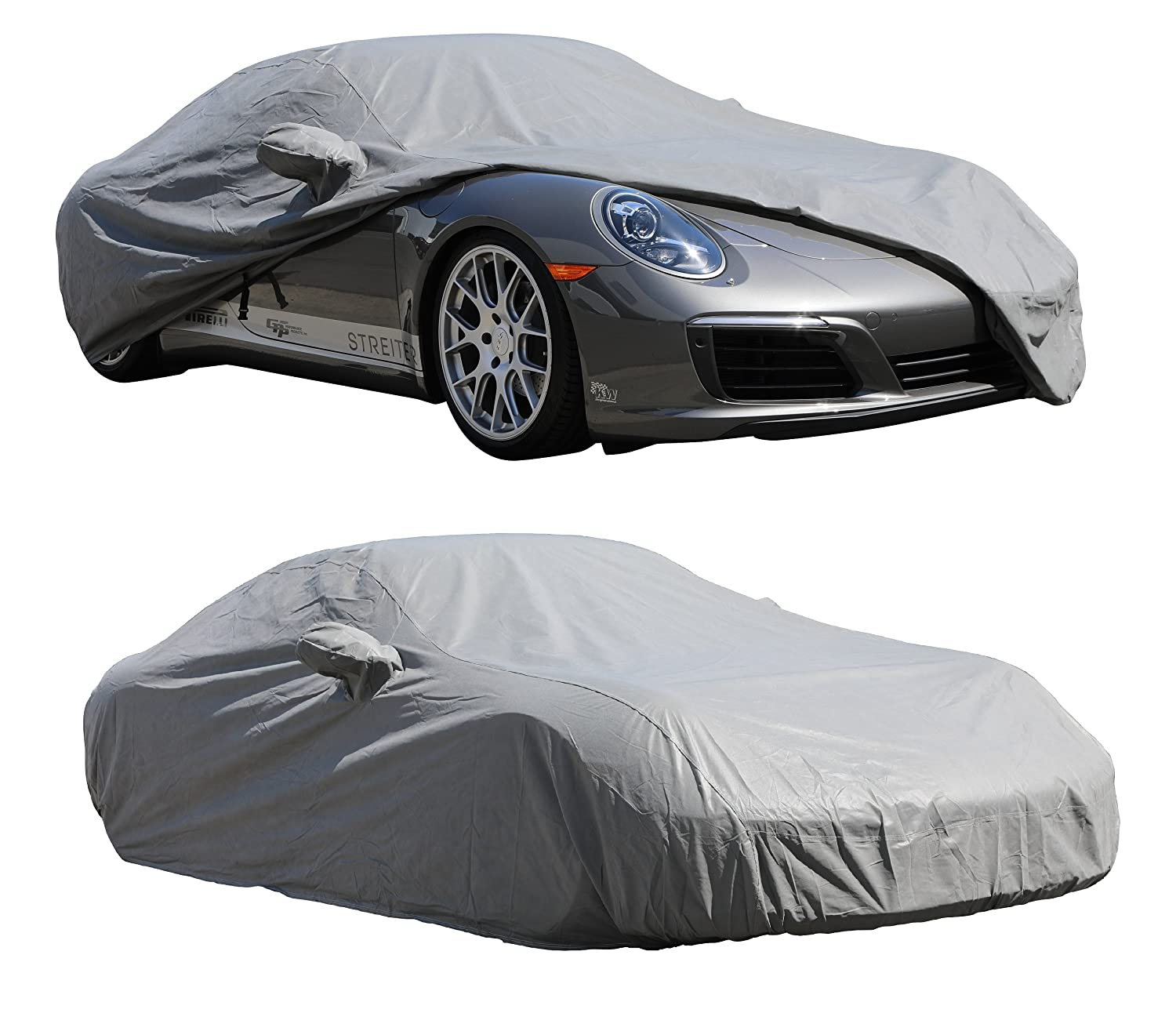 XtremeCoverPro Custom Car Cover Series for Porsche 911 Coupe Targa Convertible Turbo S 991.1~991.2 2012~2018 – UV Resistant – Breathable Fabric (Dust-Black)