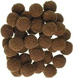 """Darice 10174-50 Pom Poms .5"""" 100/Pkg-Brown"""