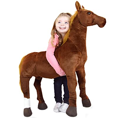 VIAHART Thorsten The Thoroughbred Horse | 3 Foot Big Stuffed Animal Plush Pony | Shipping from Texas | by Tiger Tale Toys: Toys & Games