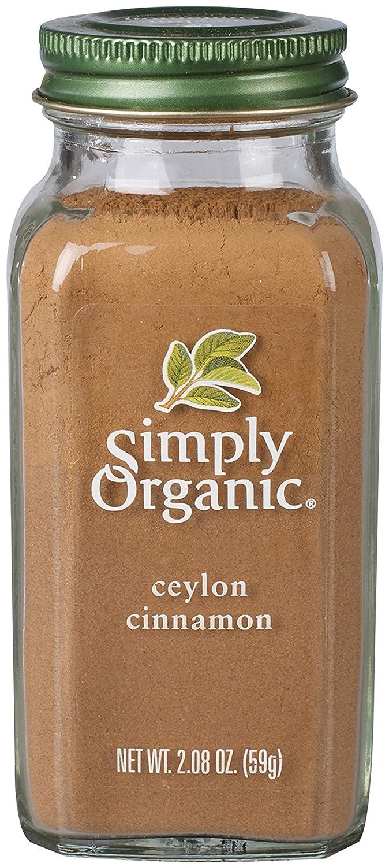 Simply Organic Ceylon Cinnamon, Ground | Certified Organic | Kosher Certified | 2.08-Ounce Glass Bottle