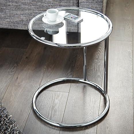 Tavolino Da Salotto Di Vetro.Tavolino Design Galano Cromato Lastra Di Vetro O 40 Cm Tavolino Da Salotto