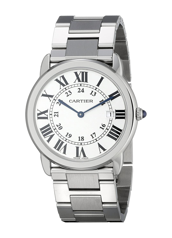 Cartier W6701005 - Reloj para Hombres, Correa de Acero Inoxidable: Amazon.es: Relojes